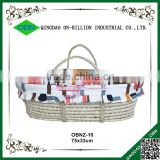 Handmade baby maize moses basket with fabric