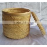 Eco-friendly natural bamboo basket funeral products supplier