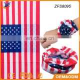 American flag tube bandana sport wristband sweatband outdoor riding scarf