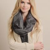 Beautiful Animal Print Cable Infinity Loop Scarf China Supplier