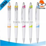 Factory cheap white promotional plastic ball pen