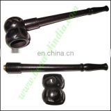 Handmade real ebony wood smoking pipe, size : 5 inch pipe