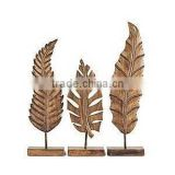 brass antique leaf decorative sculpture