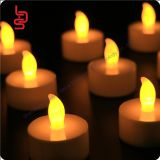 yellow flamess small tea light for temple using, wedding holiday halloween christmas home decoration tea light