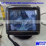 Video Car Parking Sensor System 3.5 inch Car TFT Monitor With Camera