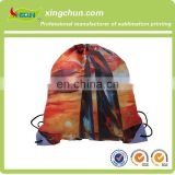 Free sample drawstring bag with customized sublimation print logo