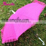 A0202 Fashion Fuchsia Lace Umbrella for Decoration