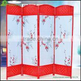 Garden folding screen Home Decor Paper Rope Canvas Movable Room Divider Folding Screen GVSD013