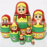 Handmade Matryoshka Traditional Wooden Nesting Dolls Large Russian Nesting Dolls Buy Babushka Dolls Child Wood Set 7 pc