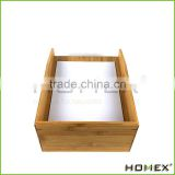 Natural A4 Bamboo Letter Tray/ Paper Storage Tray Homex-BSCI