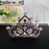 Heart Flower Shape Rhinestone Tiara Hair Comb Clip for Lady