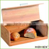 Bamboo food safe bread container bread bin Homex BSCI/Factory