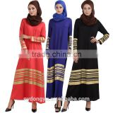 women fashion stripe muslim dress/yyh muslim abaya kaftandress/ islamic muslim women dress