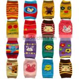 mixed design knitted cotton baby leg warmer