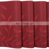 Hotel dinning Vinyl red leaf pvc placemats