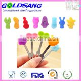 Home Decoration Kitchen Utensil silicone Fruit Forks Set