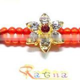 Ratna handicrafts Exclusive Designer Stone Rakhi - Indian