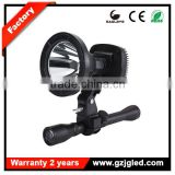 5JG-T61LED-G manufacturer ABS housing 810Lm 10w rechargeable scope mounted light outdoor spotlight