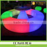 Luxury indoor bar design artificial marble LED bar furniture