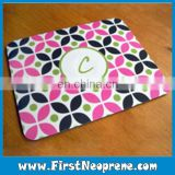 Monogram Pink And Black Mouse Pad Material Roll