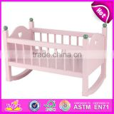 2016 New fashion <b>baby</b> <b>wooden</b> toy doll <b>crib</b> W06B018