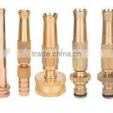 3 inch( 3.5 inch,4 inch)brass garden twist nozzles adjustable spray straight water jet to hollow spray