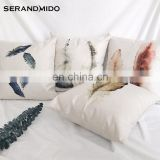 Wholesale Fashion Creative Home Decor Feather Printed Custom Pillow case