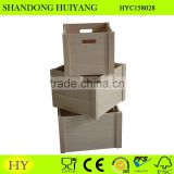 2015 china supplier cheap unfinished wooden crates wholesale