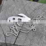 Outdoor Multipurpose Porket Tool Survival Gear Stainless Steel Paracord Cutter Wrench Match Keychain Mini Crowbar Screwdriver
