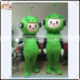 Hot sell inflatable green plants mascot costume , lovely plush cosplay costume for adult