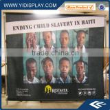 Display stand roll up banner poster board