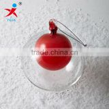 handblown double glass ball sphere ornaments