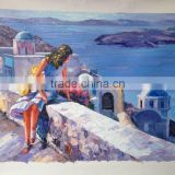 Handmade Aegean Sea Oil Painting on Canvas
