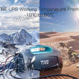 TNE Portable LED Small Size Best Sale Multifunction Desert Ice Extreme Weather Power Bank UPS with LCD Display