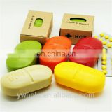 New Portable Travel Cute Candy Color 6-Slot Pill Storage Box