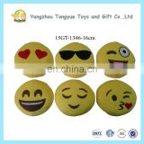 Popular Round Yellow Face Stuffed Emoji Pillow Cushion