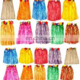 Different colors grass skirt girls hawaiian skirt for party GT2098