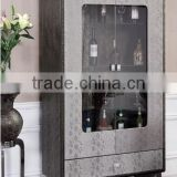 Home Furniture /living room Wine cabinet Glass with MDF C107