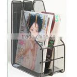 Hot Sell Metal Mesh Office Supplies Desk File Organizer Magazine Holder