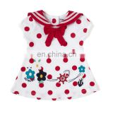 Red Polka Dot Frock For Kids