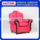 Kids Sofa- black/orange/pink, size:W63 D57 H77,material: jacquard lattice velvet+sponge+crude wood