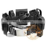<b>Leather</b> Tactical <b>Belt</b> with <b>Pouch</b>es adopts <b>leather</b> material