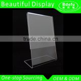 Beautiful Displays Acrylic 8.5 x 11 Slanted Sign Holders / Acrylic slanted holders