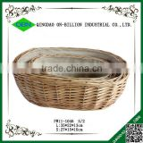 Food grade Christmas rattan wicker bread basket with cover