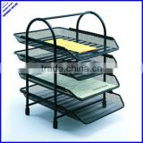 2013 best selling a4 metal mesh 4 tier document tray office file tray