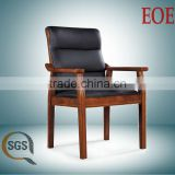 leather office wooden chair conference chair oak wood conference chair