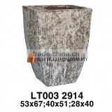 East Asia Cylinder Simple Well Design Ancient Rust Planter For Manufacturer