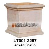 Square Classic White Wash Terracotta Planter For Manufacturer