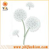 Iron On Rhinestone flower design hotfix motif for clothes