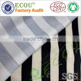 100% printed rayon fabric for garment stripe fabric